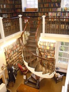 The spiral staircase at Bromley House Library