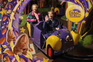 Joan and Jill enjoying their time at Cadbury World.