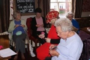 Knit Aid group getting stuck in.