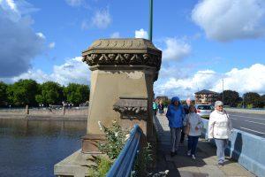 Group crossing Trent Bridge