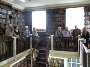 On the balcony at Bromley House Library